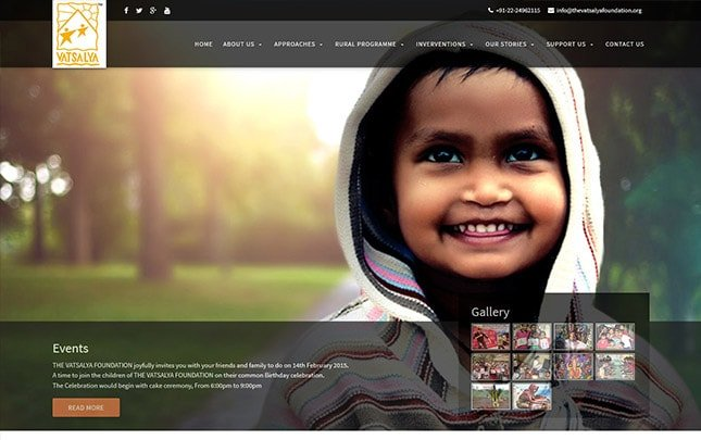 The Vatsalya Foundation website
